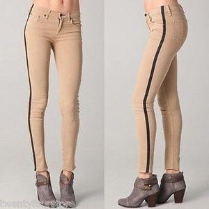 RAG & BONE Skinny PFD Khaki Tuxedo Stripe Jeans